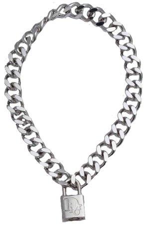 dior lock necklace