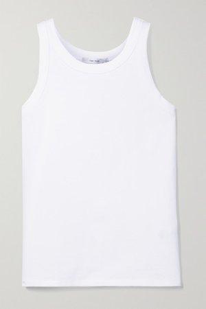 Frankie Cotton-jersey Tank - White