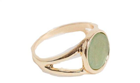 ASOS design ring green stone