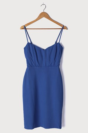 Blue Midi Dress - Bodycon Dress - Sleeveless Dress - Midi Dress - Lulus