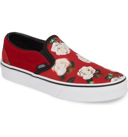 Vans Classic Slip-On Sneaker (Women) Red