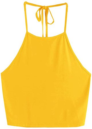 Amazon.com: Romwe Women's Casual Camisole Sleeveless Vest Halter Cami Tank Top: Clothing