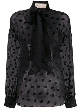 Black Alexandre Vauthier Polka-Dot Blouse   Farfetch.com