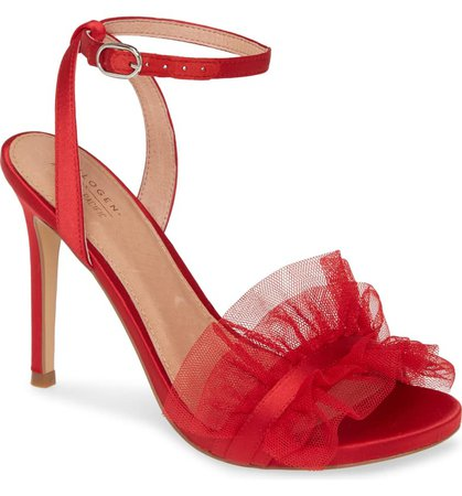 Halogen® x Atlantic-Pacific Angelle Ruffle Sandal (Women) (Nordstrom Exclusive) | Nordstrom