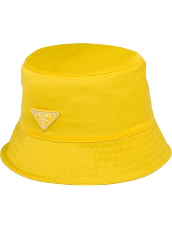 Prada Logo Triangle Bucket Hat Ss20 | Farfetch.com
