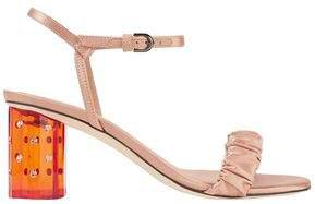 Ruched Satin Sandals