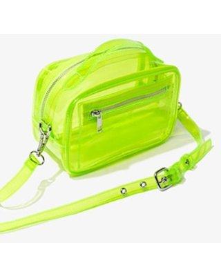 neon forever 21 translucent bag green