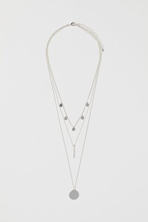 Triple-strand Necklace - Silver-colored - Ladies | H&M US