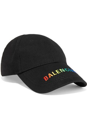 Balenciaga | Embroidered cotton-twill baseball cap | NET-A-PORTER.COM