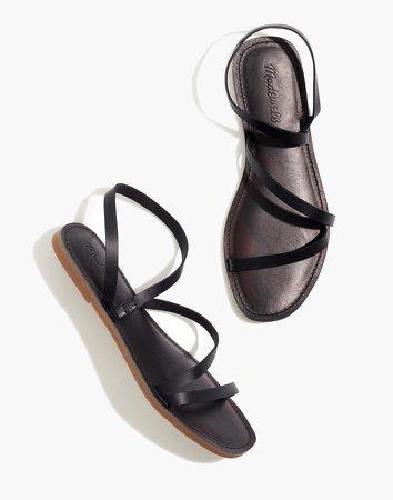 The Boardwalk Anklet-Strap Sandal in Leather