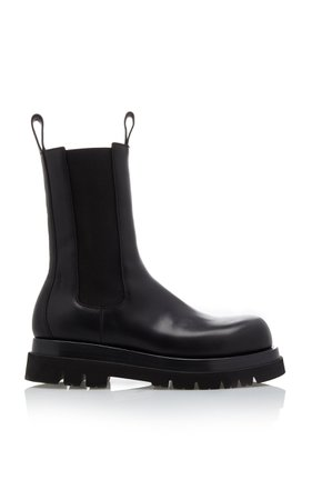Leather Chelsea Boots by Bottega Veneta   Moda Operandi