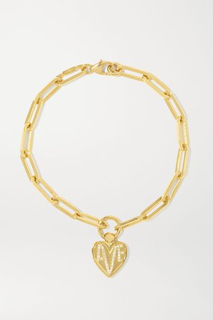Gold Amate 18-karat gold diamond bracelet | Foundrae | NET-A-PORTER