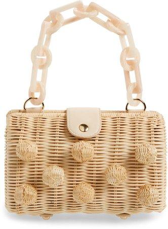 Zoe Wicker Shoulder Bag
