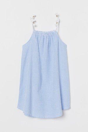 Seersucker Dress - Light blue/white striped - | H&M US