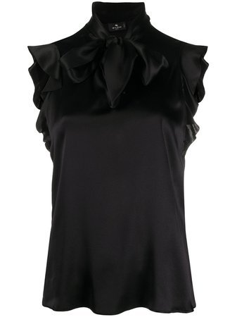 Etro, Ruffled-Sleeve Silk Blouse
