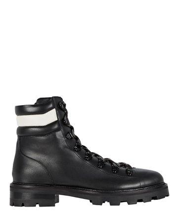 Jimmy Choo Eshe Leather Combat Boots | INTERMIX®