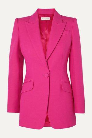 Pink Wool-blend blazer   Alexander McQueen   NET-A-PORTER