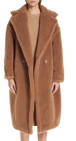 Teddy Bear Icon Faux Fur Coat