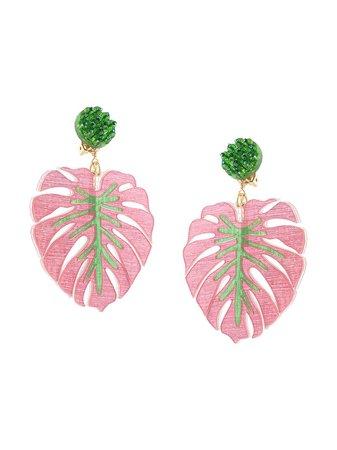 Mercedes Salazar Tropics Palm Oversized Earrings - Farfetch