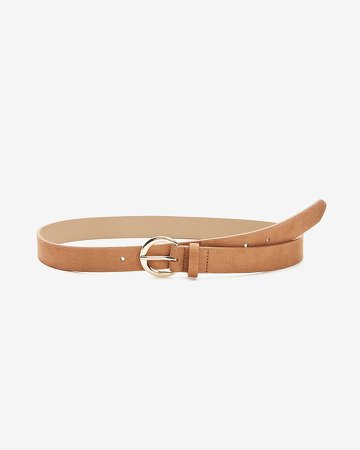 Circle Buckle Skinny Belt