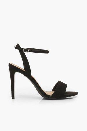 Strappy 2 Part Stiletto Heels | boohoo black
