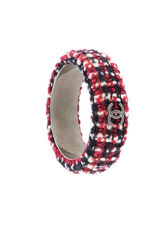 Chanel Pre-Owned CC Tweed Bangle Bracelet - Farfetch