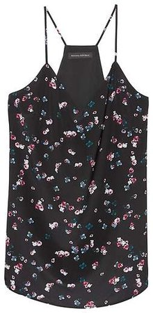 Floral Washable Silk Camisole