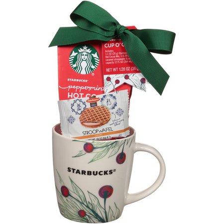 Starbucks® Cup o' Cheer Hot Cocoa Mix, Mini Caramel Stroopwafel & Ceramic Mug Gift Set 3 pc Pack - Walmart.com - Walmart.com