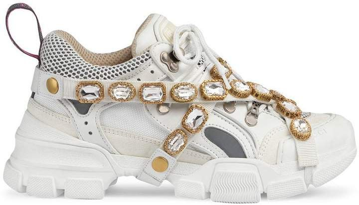 Flashtrek sneakers with removable crystals