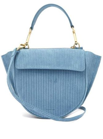 Hortensia Mini Corduroy Shoulder Bag - Womens - Blue