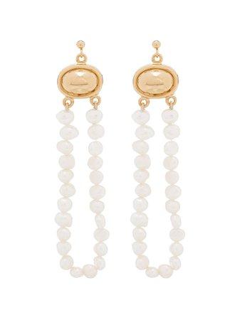 By Alona Pearl Loop Drop Earrings | Farfetch.com