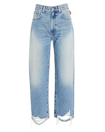 Denimist Pierce Distressed High-Rise Jeans   INTERMIX®