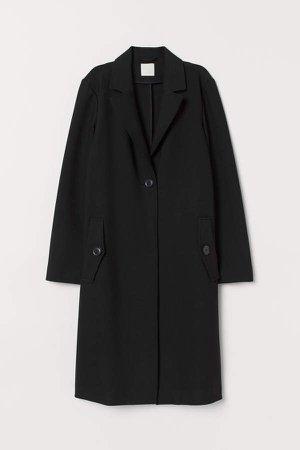 Straight-cut Coat - Black