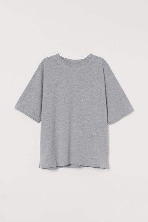 Short-sleeved Sweatshirt - Gray