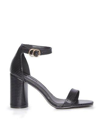 SOPHIE Black Heeled Sandals   Miss Selfridge