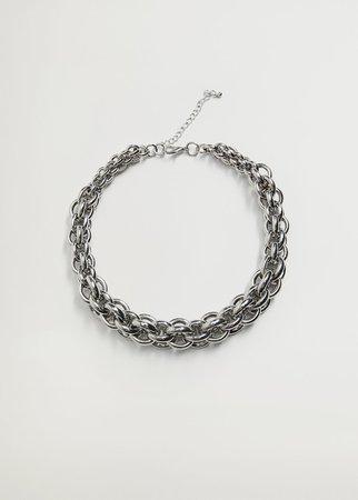 Multiple chain necklace - Women   Mango USA