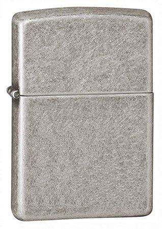 Amazon.com: Zippo Armor Pocket Lighter, Antique Silver Plate: Sports & Outdoors
