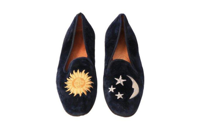 Vintage STUBBS & WOOTTON Celestial Sun Star and Moon Velvet | Etsy