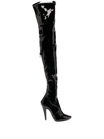 Saint Laurent thigh-high Boots - Farfetch