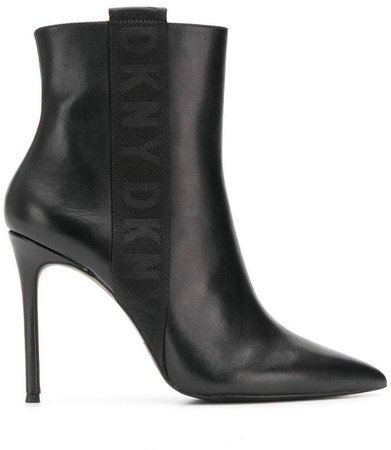 logo trim ankle boots