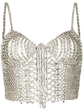 Ermanno Scervino crystal-embellished Cropped Top - Farfetch