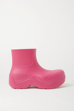 Rubber Rain Boots - Bright pink