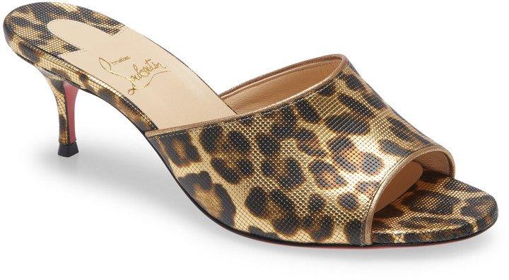 East Leopard Print Slip-On Sandal