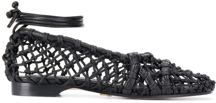 Woven Leather Pumps