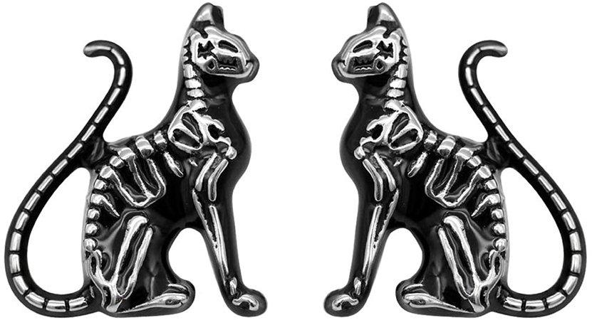 Amazon.com: Controse Feral Bones Cat Earrings: Jewelry