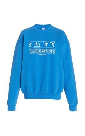 Health And Wellness Cotton Jersey Sweatshirt By Sporty & Rich | Moda Operandi