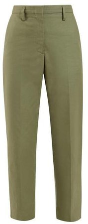 Golden Mid Rise Tailored Trousers - Womens - Khaki