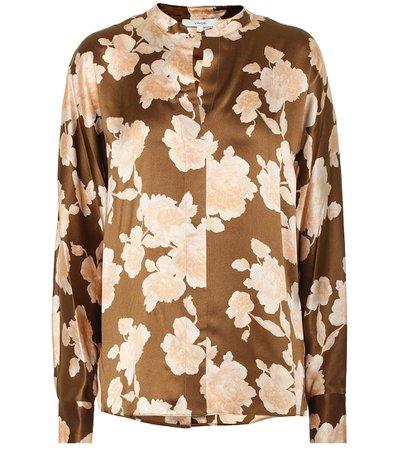 Vince - Floral silk satin blouse | Mytheresa