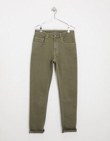 Зеленые джинсы узкого кроя ASOS DESIGN Tall | ASOS