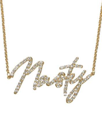HIDDEN CULT Nasty Rhinestone 18K Gold Plated Necklace